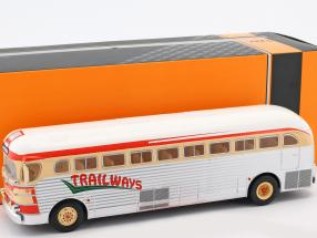 GMC PD-3751 bus Trailways year 1949 silver / red / beige 1:43 Ixo