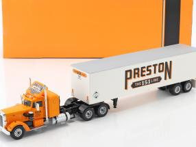 Peterbilt 350 Sattelzug Preston People Baujahr 1952 orange / creme weiß 1:43 Ixo