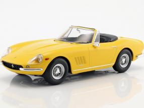 Ferrari 275 GTB4 NART Spyder with spoke rims year 1967 yellow 1:18 KK-Scale
