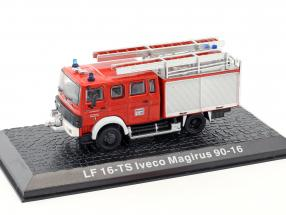 Iveco Magirus 90-16 LF 16-TS fire Department Kaufbeuren red 1:72 Altaya