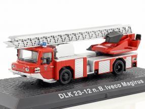 Iveco Magirus DLK 23-12 N.B. Baujahr 1980 Feuerwehr Kaufering rot 1:72 Altaya