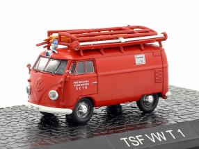 Volkswagen VW T1 bus fire Department Seth red 1:72 Altaya