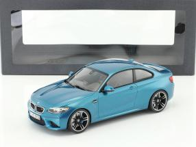 BMW M2 Coupe year 2016 long beach blue 1:18 Minichamps