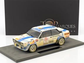 Fiat 131 Abarth Dirty Version #1 Winner Rallye 1000 Lakes 1980 Alen, Kivimäki 1:18 TopMarques