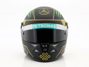 N. Rosberg Mercedes F1 W05 Formula 1 2014 Helmet 4. Star Edt. 1:2 Schuberth