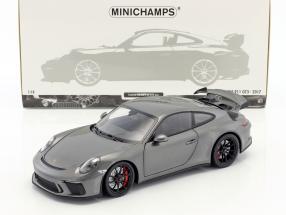 Porsche 911 (991 II) GT3 year 2017 agate gray metallic 1:18 Minichamps