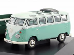 4-Car Set Volkswagen VW T1b With VW T1b Samba, panel van, Doble Cabin, Pick up 1:43 Schuco