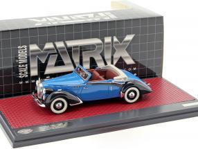 Voisin C30 Goelette Cabriolet Dubos Open Top Baujahr 1938 blau / schwarz 1:43 Matrix