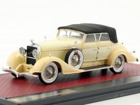 Hispano Suiza H6C Convertible Sedan Closed Top Hibbard & Darrin Baujahr 1928 creme weiß 1:43 Matrix