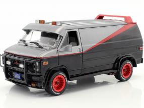 B.A.'s GMC Vandura year 1983 TV series The A-Team (1983-87) black / red / gray 1:24 Greenlight