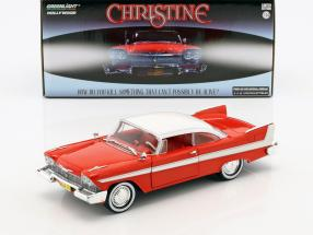 Plymouth Fury Baujahr 1958 Film Christine (1983) rot / weiß / silber 1:24 Greenlight