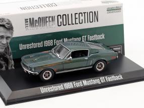 Ford Mustang GT Fastback unrestored Steve McQueen Film Bullitt (1968) grün 1:43 Greenlight