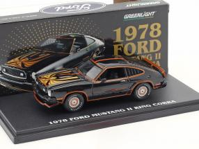 Ford Mustang II King Cobra year 1978 black / gold 1:43 Greenlight
