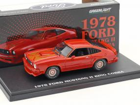 Ford Mustang II King Cobra year 1978 red 1:43 Greenlight