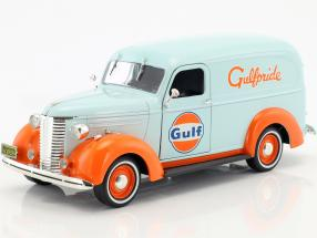 Chevrolet Panel Truck Gulf Oil year 1939 Light Blue / orange 1:24 Greenlight