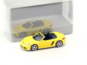 Porsche 718 Boxster year 2016 yellow 1:87 Minichamps