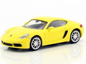 Porsche 718 Cayman Baujahr 2016 gelb 1:87 Minichamps