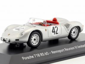 Porsche 718 RS60 #42 Winner 12h Sebring 1960 Herrmann, Gendebien 1:43 Spark