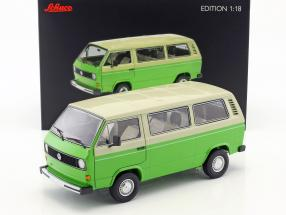 Volkswagen VW T3 Bus Baujahr 1979-82 grün / beige 1:18 Schuco