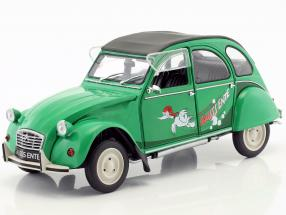 Citroen 2CV Sausss Ente year 1987 green / gray 1:18 Solido