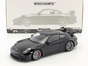 Porsche 911 (991 II) GT3 Baujahr 2017 schwarz 1:18 Minichamps