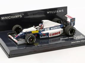 Nigel Mansell Williams Renault FW13B #5 Test Session Formel 1 1:43 Minichamps