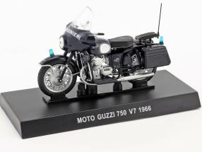 Moto Guzzi 750 V7 year 1966 dark blue 1:24 Altaya