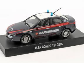 Alfa Romeo 159 Carabinieri Baujahr 2006 dunkelblau 1:43 Altaya