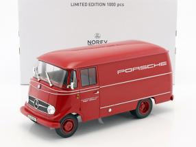 Mercedes-Benz L319 Porsche racing service Year 1955 red 1:18 Norev