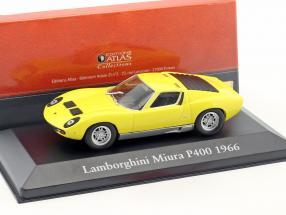 Lamborghini Miura P400 Baujahr 1966 gelb 1:43 Atlas