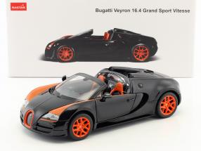 Bugatti Veyron 16.4 Grand Sport Vitesse black / orange 1:18 Rastar