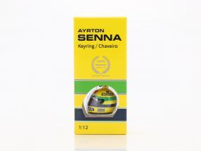 Ayrton Senna 3D Schlüsselanhänger Helm Formel 1 1988 1:12 Minichamps