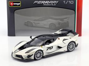 Ferrari FXX-K Evoluzione #70 year 2018 white metallic / black 1:18 Bburago