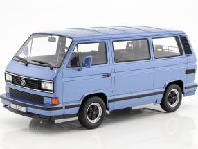 Porsche B32 based on Volkswagen VW T3 bus year 1984 light blue metallic 1:18 KK-Scale