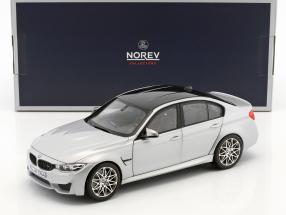 BMW M3 Competition Baujahr 2017 silber metallic 1:18 Norev