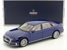Audi A8 L Baujahr 2017 blau metallic 1:18 Norev
