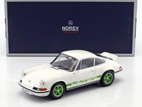 Porsche 911 RS Touring year 1973 white / green 1:18 Norev
