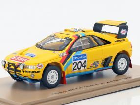 Peugeot 405 T16 Grand Raid #204 2nd Rally Dakar 1990 Waldegard, Fenouil 1:43 Spark