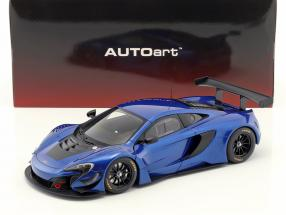 McLaren 650S GT3 Construction year 2017 blue / black 1:18 AUTOart