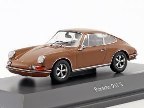 Porsche 911 S brown 1:43 Schuco