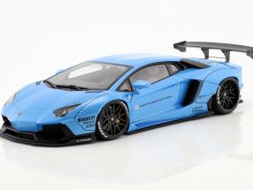 Lamborghini Aventador Liberty Walk LB-Works Baujahr 2015 sky blau metallic 1:18 AUTOart