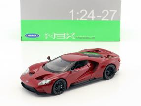 Ford GT Baujahr 2017 dunkelrot 1:24 Welly