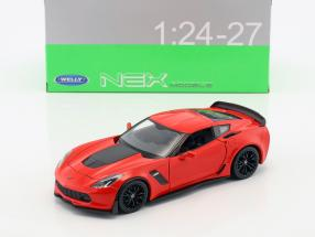 Chevrolet Corvette Z06 year 2017 red 1:24 Welly