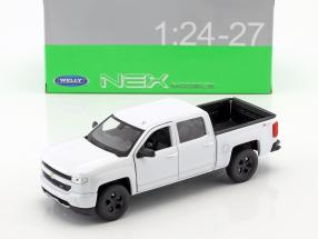 Chevrolet Silverado year 2017 white 1:24 Welly