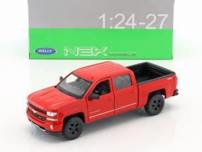 Chevrolet Silverado year 2017 red 1:24 Welly