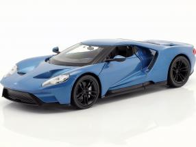 Ford GT year 2017 blue metallic 1:24 Welly