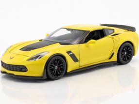 Chevrolet Corvette Z06 year 2017 yellow 1:24 Welly