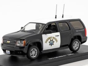 Chevrolet Tahoe California Highway Patrol Baujahr 2012 schwarz / weiß 1:43 Greenlight