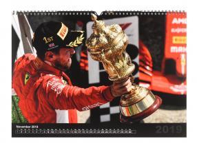 Sebastian Vettel Formel 1 2019 Hochglanz Monats-Wandkalender 42 x 29,7 cm