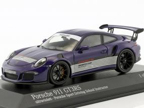Porsche 911 (991) GT3 RS Porsche Sports Driving School Instructor ultraviolet 1:43 Minichamps